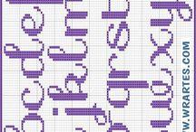 abecedarios punto cruz