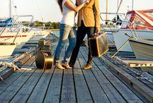 Preboda en Suecia / Bodas, boda, prebodas, preboda, engagement, wedding, photoshoot, sailor, sea, travel themed wedding.