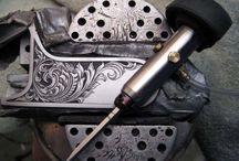 Grawerowanie / Grawerowanie , wzory ,narzędzia grawerskie , pneumograver