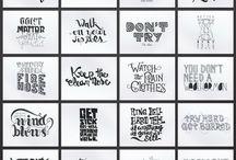Inspirações Hand Lettering Caligrafia