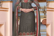 Partywear Straight Salwar Suits / Straight salwar suits are trendy these days. Buy straight partywear salwar suits at cheap price online at www.fashionfiza.com