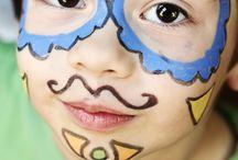 Malowanie buziek- dzieci