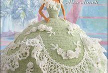 Dolls crochet dress