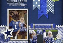 Cheerleading Scrapbooking / Scrapbooking Cheerleading layouts & products