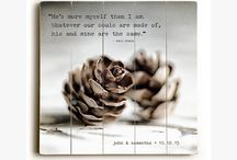 Personalized & Quotations / Rustic gifts and art with a personal touch!