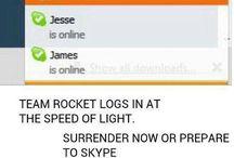 Team Rocket blast off at the speed of light!