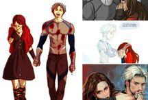Avengers / Avengers.  Pietro and Wanda Maximoff, Captain America, Iron-Man, Spider-Man, Hulk, Hawkeye, Falcon, Ant-Men, Black Panther and more...