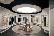 Stefanel. / We designed a prefabricated, modular store in order for easy rollout to over 600 stores. The aim of our design was to modernise and elevate the brand further into a higher level of retail luxury.
