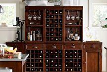 Kelly's Wine Storage Hutch / Custom piece for storage and wine display.