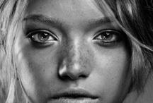 Portret en face