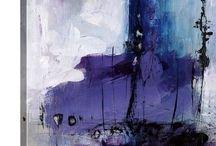 Aqua bleu au mauve