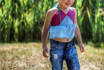 Back To Basics Jeans / Custom created hand ripped and distressed jeans for both boy or girl. Signature rip pattern on both sides of the leg. Available as a light or dark wash.
