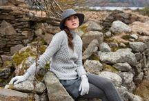Winter Wonderland of Irish Aran sweaters