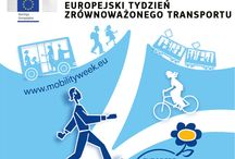 """Europejski Tydzień Mobilności / 2000 miast i miasteczek europejskich będzie uczestniczyć w 13. edycji Europejskiego Tygodnia Mobilności — corocznej kampanii europejskiej poświęconej przemieszczaniu się w mieście w sposób zgodny z zasadami zrównoważonego rozwoju. Celem tegorocznego Tygodnia Mobilności, przebiegającego pod hasłem """"Nasze ulice, nasz wybór"""", jest zachęcenie obywateli do """"upominania się"""" o przestrzenie miejskie."""