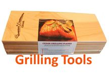 Grilling Tools / Grilling is nothing without the right tools. From grilling planks to forks to spatulas to a cool apron, you want to have tools that make it fun and more convenient to grill. Check out our board to find grill planks and the latest and greatest in other grilling tools as well.