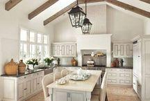 French style farm kitchen