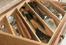 Kitchen serving spoon drawer
