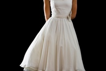 Tea Lenght Vintage Wedding Dress