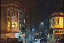 night time paintings
