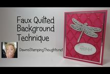 faux quilted