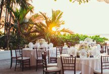 bohemian and tropical wedding decor