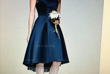 Wedding Party Ideas / Navy dress ideas for our five beautiful girls to wear in our Bridal Party! Mix and match styles to suit your own tastes. Please pin lots of your own ideas and comment on yours and each other's pins!  It can be pretty tricky being successfully miss matched!  Maybe the more diverse the better? Thoughts?   There is also a possibility of all wearing the same dress as long as it suits everyone and everyone is happy!  I'm so excited!  Warning! Pintrest is addictive! Happy pinning!! xxxxx