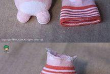 Toys from socks