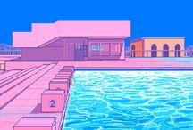 Vaporwave & Pixels & 8-bit Heaven