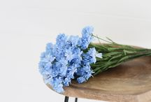 Cornflowers / Different shades of cornflower stems makeup a stunning arrangment