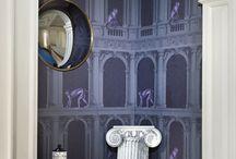 FORNASETTI le nuove carte  / Le nuove carte da parati di Fornasetti, estrose, divertenti, particolari.... decorare con la carta anche solo una parete darà personalità ad una stanza