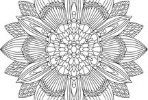 flower mandalas: adult coloring book / This is my adult coloring book collaboration with photographer David Bookbinder. '52 (more) Flower Mandalas: An Adult Coloring Book for Inspiration and Stress Relief' contains 52 hand-drawn flower mandalas for you to color, all based on David's Flower Mandala photographs. Available on Amazon!
