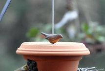 Bird feeder from clay pots