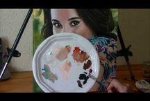 PINTAR AL OLEO, Tutoriales, Videos, lecciones...aprender / pintar girasoles al oleo zearantes