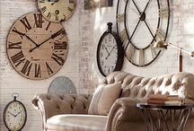 Clocks and wall art