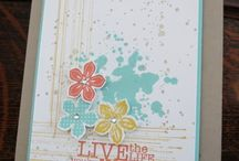 Petite petals SU / This stamp set has a co-ordinating punch. For all your Stampin Up goodies  - current items available to purchase from http://bagsthatone.stampinup.net/