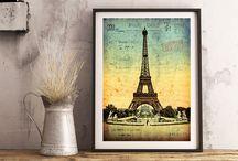 Paris Retro Vintage Photo Ancienne Cartes Postales
