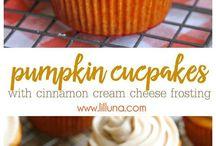 Pumpkin cup cakes
