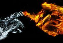 Fire + İce /  Fire + Water / Ateş + Buz / Ateş + Su / .