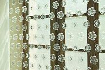cortinas de flores plásticas