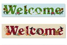 welcome/home sweet home