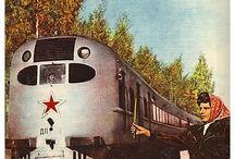 vlaky - Rusko a bývalé státy SSSR