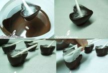 coupelles en chocolat