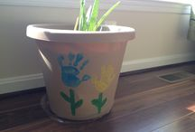 Handprint Flowerpot