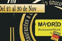 Restaurant Week / Hola Tenedores!! Llega a Madrid una nueva edición de Restaurant Week. Del 21 al 30 de noviembre, más de 35  #restaurantes ofrecerán menús a 25 euros que ya puedes reservar en eltenedor.es. Además, con cada menú contribuirás a una buena causa y ayudarás al Programa de Becas Comedor de la Fundación Educo ¡Haz tu reserva! #sabordelaño #restaurantweek http://bit.ly/restaurantweekeltenedor
