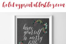 Christmas Printables / Christmas | Christmas Printable Art | Free Printables | Christmas Printable Art, Gifts, Tags & More
