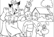 Inspector Gadget coloring book / Inspector Gadget coloring pages