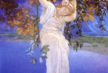 {art} Maxfield Parrish / Includes others working in Parrish's themes or style.