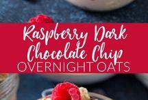 Raspberry and oat breakfast