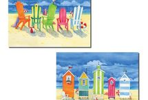 Colorful Coastal Decorating