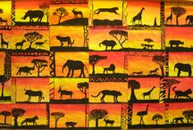African animals and art